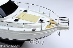 Riviera Sport Yacht 36, Modèle De Bateau En Bois Fabriqué À La Main Nouveau
