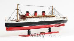 Rms Queen Mary Bateau De Croisière 40 Paquebot Bois Modèle Bateau Avec Case Assemblé