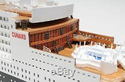Rms Queen Mary II Bateau De Croisière Ocean Liner 40 Bois Modèle Bateau Assemblé