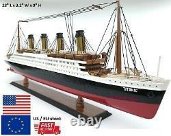 Rms Titanic Modèle Bateau Bateau Ocean Liner 23 60cm Wooden White Star Line Cruise