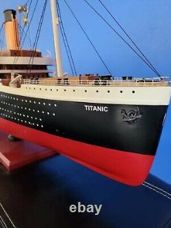 Rms Titanic Modèle Bateau Ocean Liner 40 101cm Wooden White Star Line Cruise