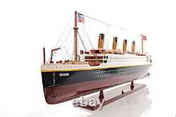 Rms Titanic Ocean Liner Modèle En Bois 40 White Star Line Bateau De Croisière Nouveau