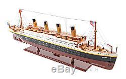 Rms Titanic Paquebot 25 Construit En Bois Croisière Modèle Bateau Bateau Assemblé