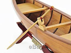 Rushton Indian Girl Canoe Modèle 24 Handcrafted En Bois Construit Bateau Nouveau