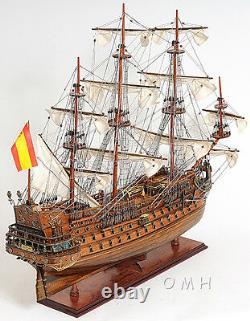 San Felipe Espagnol Armada Galleon Tall Ship 37 Wood Model Sailboat Assemblé
