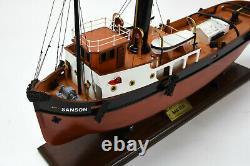 Sanson Tugboat Modèle Bateau En Bois 24 Modèle Fabriqué À La Main Prêt À Afficher