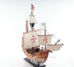 Santa Maria Christopher Columbus Flagship Tall Ship 29 Maquette Du Bateau En Bois