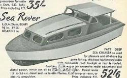 Sea Rover Boat Model Kit De Bateau En Bois Lesro Modèles Les Rowell