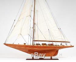 Shamrock V 1930 America's Cup J Boat Wood Modèle 39 Yacht Uk Voilier