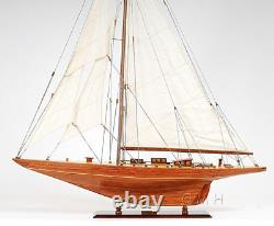Shamrock V 1930 America's Cup J Boat Wood Modèle 39 Yacht Uk Voilier Nouveau