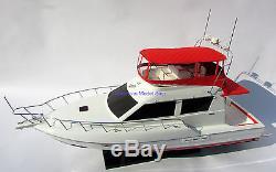 Silverton 42 Convertible Model Yachts Modèle De Bateau En Bois Fabriqué À La Main Nouveau