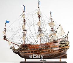 Soleil Modèle En Bois Royal Tall Ship 28 Warship Français Construisirent Bateau Nouveau