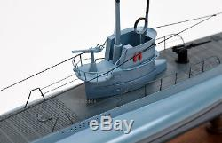 Sous-marin Allemand En Bois Fait À La Main Modèle De Bateau 39.5 Qualité De Musée