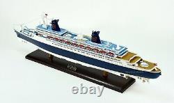Ss Norway Ocean Liner Fabriqué À La Main Modèle De Navire En Bois 40