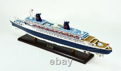 Ss Norway Ocean Liner Handmade Wooden Ship Modèle 40