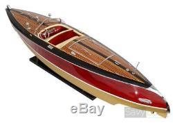 Stan Craft Torpedo 28 Modèle Bois Bateau L 67 CM À La Main Us Speed boat Artesanat