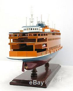 Staten Island Ferry De New York 24 Bois Modèle Bateau Assemblé