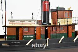 Taurus Tugboat En Bois Fabriqué À La Main Modèle 37 Rc Prêt