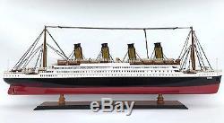 Titanic Bois Modèle En Bois Paquebot De Croisière Navire Bateau 23 Collection Affichage Nautique