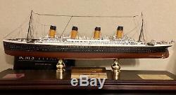 Titanic En Bois Ship Model Franklin Mint Limited Edition 622/1000