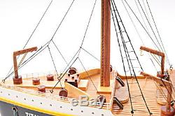 Titanic Ocean Liner Wooden Model 32 Bateau De Croisière White Star Line Nouveau
