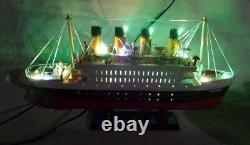 Titanic With Lights 15 Beautiful Wooden Model Cruise Ship L40 Livraison Gratuite