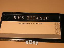 Titanic Wood Ship Modèle Franklin Mint Édition Limitée 40/1000 Avec Housse De Protection