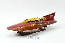 U-37 Slo-mo-shun V Hydroplane - Modèle De Bateau De Course 30 - Échelle 112