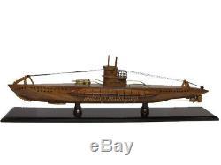 U-99 Allemand Wolf Pack De Otto Kretschmer Sous-marin U-boat Seconde Guerre Mondiale Acajou Modèle Bois