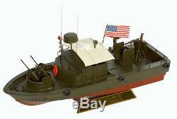 Us Navy Pbr Mk-ii Patrouille Fluviale Bateau Maquette De Bateau En Bois Époque Vietnamienne Assemblé