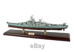Usn Uss Missouri Bb-63 Battleship Mbbmo Bois Modèle Bateau Assemblé