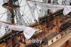 Uss Constitution Large 38 Ship Model & Display Case Set Wood Old Ironsides Cadeau