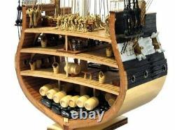 Uss Constitution Nautical Ship Scale 1x75 Modèle Bateau Vieux Kit D'assemblage En Bois
