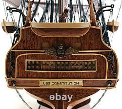 Uss Constitution Old Daciers Modèle 38 Modèle De Bateau À Voile En Bois Haut
