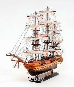 Uss Constitution Wooden Tall Ship Model 22 Old Ironsides Bateau Entièrement Assemblé