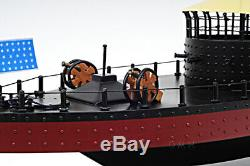 Uss Monitor CIVIL War Ironclad Modèle Échelle De Navire En Bois 24 Us Navy Warship Bateau