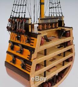 Uss Victory Cross Section Tall Ship 35,25 Construit En Bois Modèle Bateau Assemblé