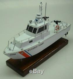 Utb-41 Us Coast Guard Boat Acajou Bois Petit Modèle Kiln Nouveau