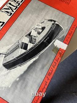 Vieille Mer Du Century Maid 20' Modèle Boat Kit Par Sterling Comme Est