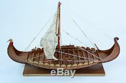 Viking Clinker Construit 16 Modèle De Bateau En Bois Fabriqué À La Main