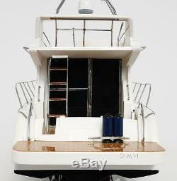 Viking Sport Cruiser Motor Yacht Modèle En Bois 36 Assemblé Entièrement Bateau À Moteur Nouveau