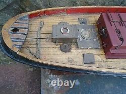 Vintage, 1950 Scratch Built Modèle Tug Cullamix