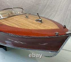 Vintage 1960's Riva 33 Modèle De Bateau De Travail En Bois Fabriqué À La Main
