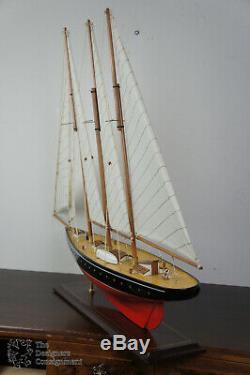 Vintage 33 ' ' Bois Modèle Voile Bateau À Voile Bateau Maritime Nautique Scooner Yacht