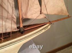 Vintage Années 1930 Grand Nova Model-wood Voilier/yacht France 5 Voiles 40l, 44t