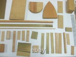 Vintage Antique E-z Craft Boat Kits Freighter Wood Modèle Bateau Kit #118
