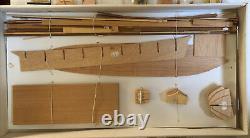 Vintage Arkit Wood Model Tug Ship Paddleboat Uncle Sam 1849 170 Échelle