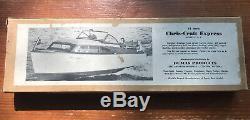 Vintage Chris Craft Modèle De Bateau Kit Bois 21 Express Vintage Kit! Dumas