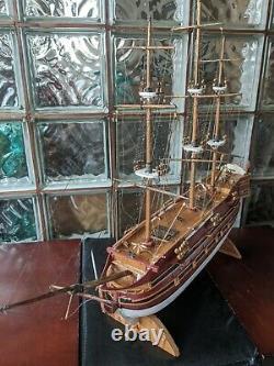 Vintage Échelle Personnalisée Clipper Bateau Modele 3 Mât Navire 28 À La Main En Bois Modèle Voile