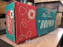Vintage Fleetline Dolphin Wood Plastique Modèle Batterie Toy Speed Boat #500 Withbox